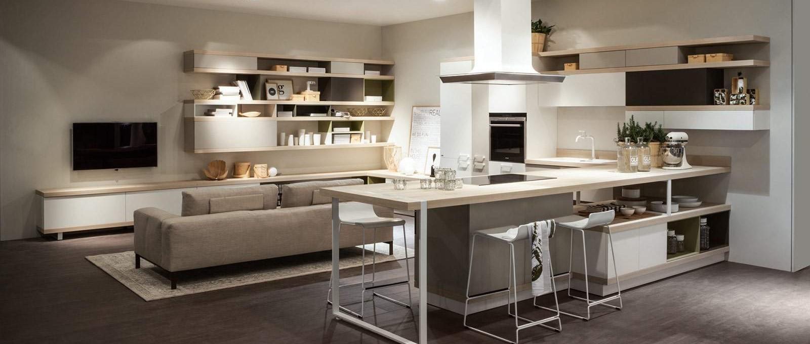Arredamento moderno soggiorno cucina bs92 pineglen for Arredamenti bari e provincia