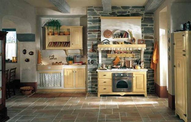 Cucine in muratura mobili marini for Piani di casa di concetto aperto stile ranch