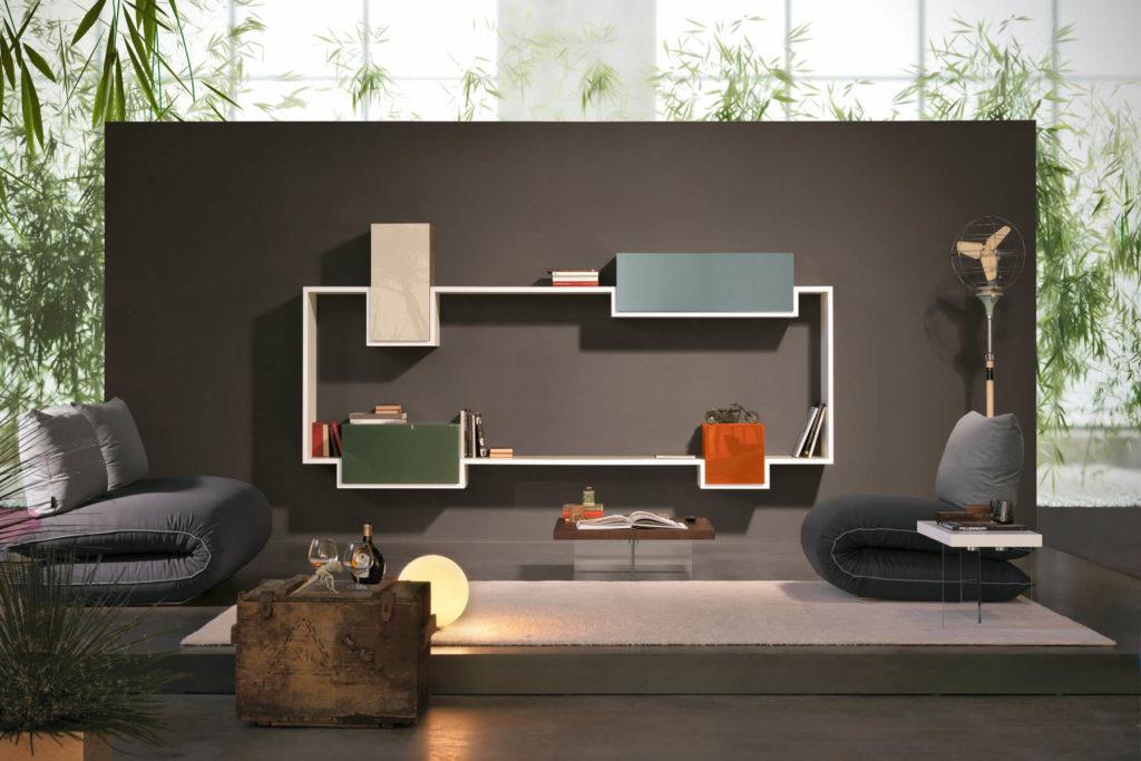 Marini home design rivenditore a roma dei mobili lago for Parete attrezzata design moderno