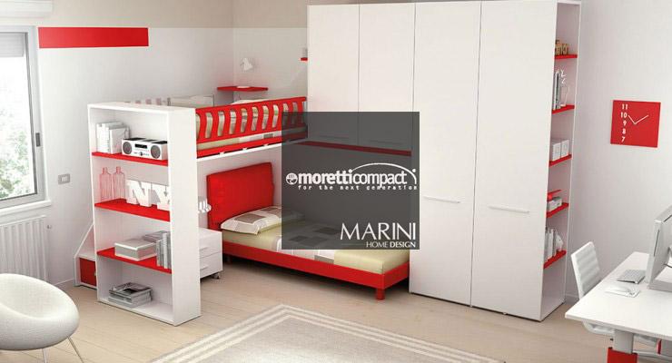 Camere per ragazzi Moretti Compact | Mobili Marini